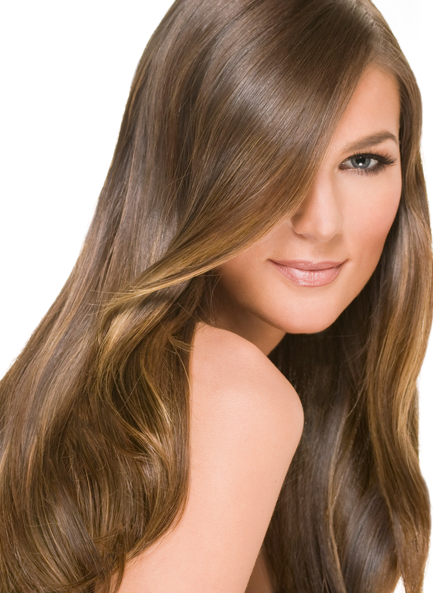 Woman with silky smooth hair