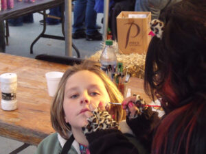 Outdoor face painting with Xenon Academy