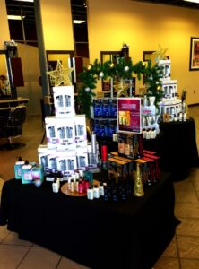 Holiday products on display