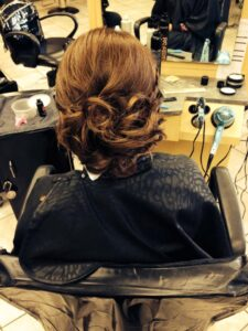 Brown Updo