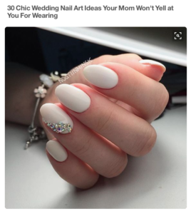 Chic Wedding Nails