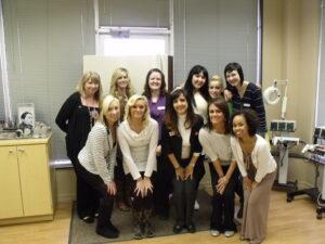 Esthetics class graduates at Xenon Academy