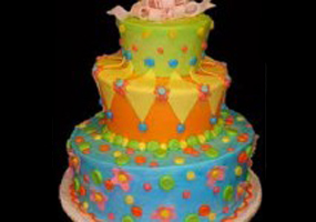 A colourful cake