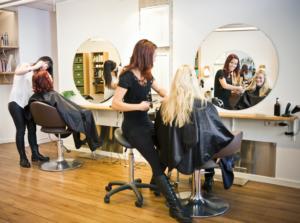 women in salon