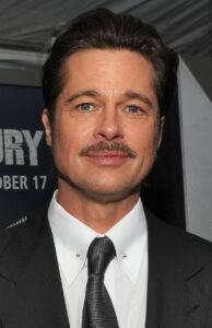 brad pitt with a mustache