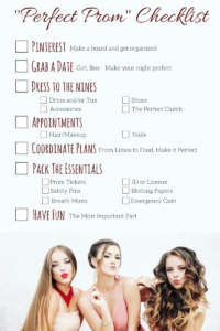 The Perfect Prom List