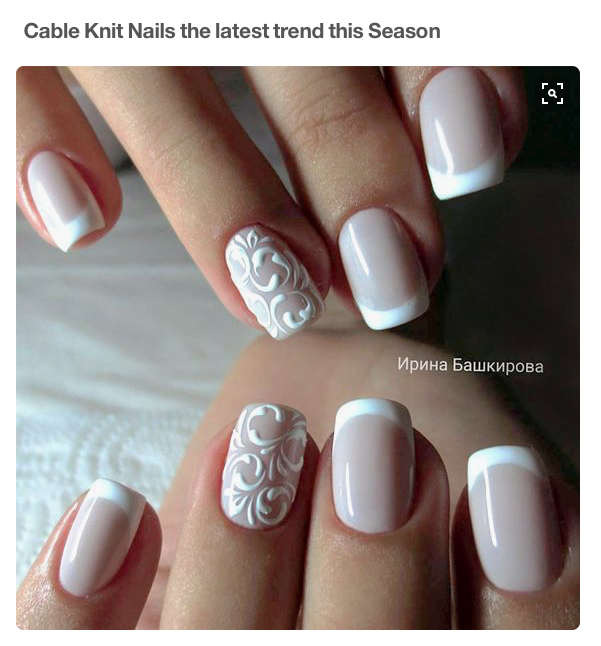 Pinterest Cable Knit Nails