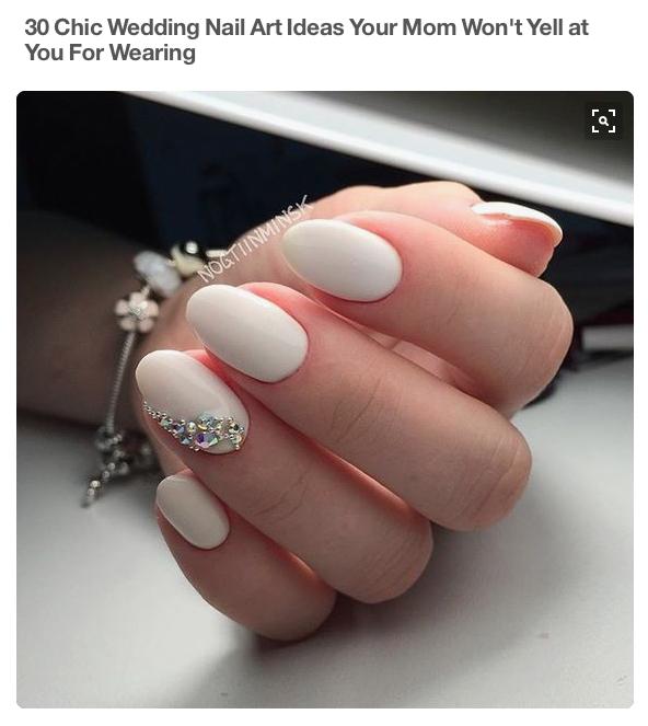 Chic Wedding Nails
