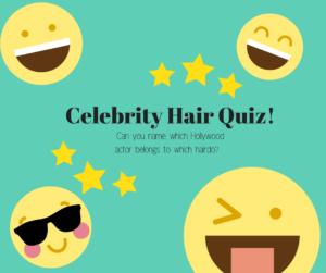 celebrity hair quiz with emojis