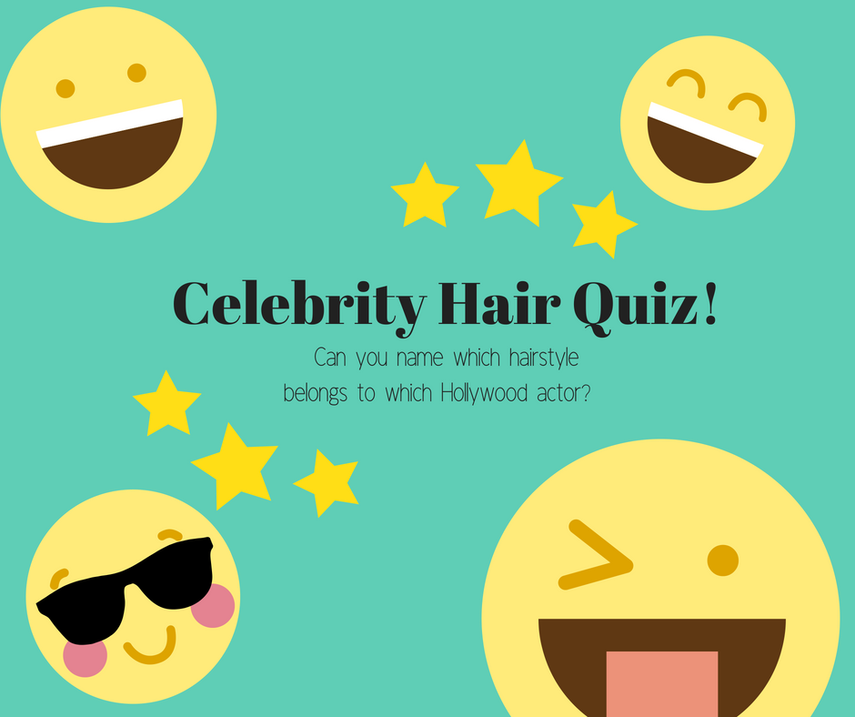 celebrity hair quiz with emojis